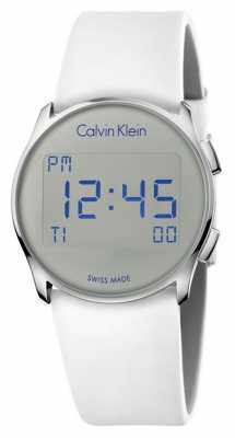 Calvin Klein Unisex Future Digital White Rubber Strap K5B23UM6