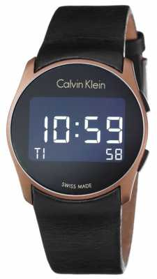 Calvin Klein Unisex Future Digital Black Leather Strap K5B13YC1