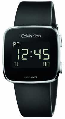 Calvin Klein Unisex Future Digital Black Rubber Strap K5C21TD1
