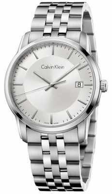 Calvin Klein Mens Infinite Stainless Steel Silver Dial K5S31146