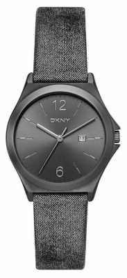 DKNY Womens Parsons Gunmetal Leather NY2373