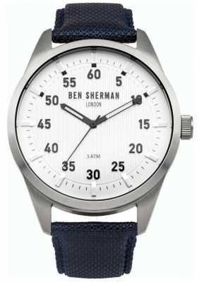 Ben Sherman Mens Blue Strap White Dial WB031U