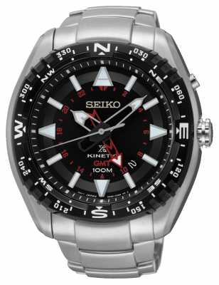Seiko Mens Prospex Kinetic GMT Stainless Steel SUN049P1