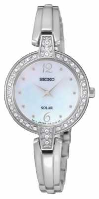 Seiko Womens Solar Stainless Steel SUP287P9