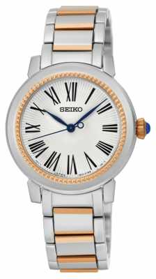 Seiko Womens Two Tone Bracelet White Dial SRZ448P1