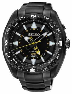 Seiko Mens Prospex Kinetic GMT Black IP SUN047P1