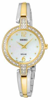 Seiko Womens Solar Two Tone SUP288P9