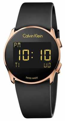Calvin Klein Unisex Future Digital Black Rubber Strap K5B236D1