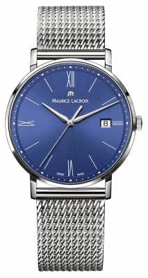 Maurice Lacroix Eliros Date Blue Dial Mesh Bracelet EL1087-SS002-410-1