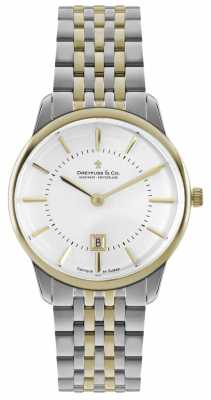 Dreyfuss Mens Two Tone Bracelet White Dial DGB00137/02