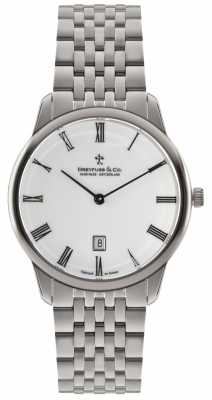 Dreyfuss Mens Stainless Steel Bracelet White Dial DGB00135/01