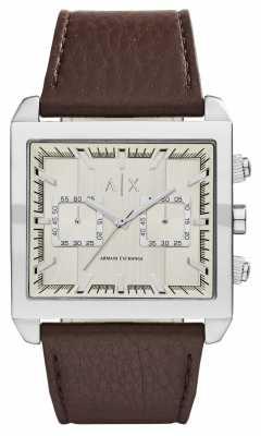 Armani Exchange Mens Beige Dark Brown Chronograph AX2224