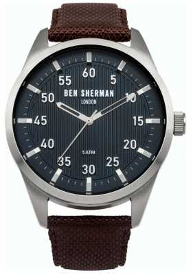 Ben Sherman Mens Brown Leather Strap Black Dial WB031BR