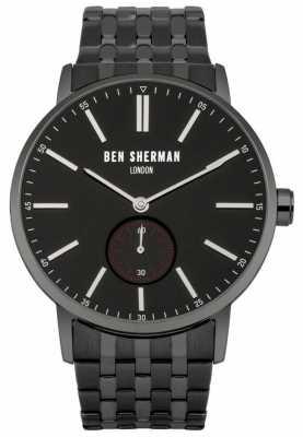 Ben Sherman Mens Black IP Bracelet Black Dial WB032BBM
