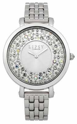 Lipsy Womens Stainless Steel Stone Set Dial LP395
