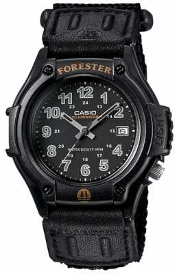Casio Forester Black Fabric Strap Black Dial LED FT-500WC-1BVER