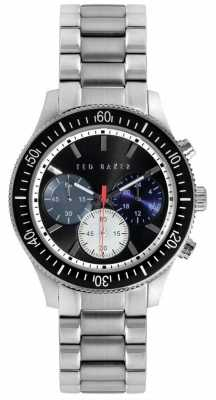 Ted Baker Mens Stainless Steel Bracelet Black Dial TE3059