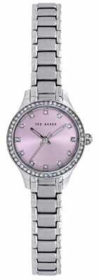 Ted Baker Womens Stainless Steel Bracelet Pink Dial TE10023508