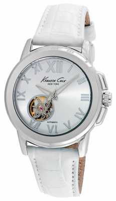 Kenneth Cole Womens Automatic White Leather Strap KC10020859