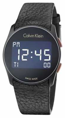 Calvin Klein Unisex Future Digital Black Leather Strap K5B13XC1