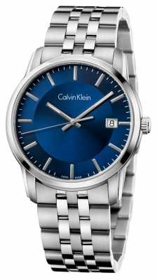 Calvin Klein Mens Infinite Stainless Steel Blue Dial K5S3114N