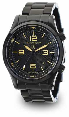 Elliot Brown Mens Canford Black PVD Plated Black Dial 202-002-B04