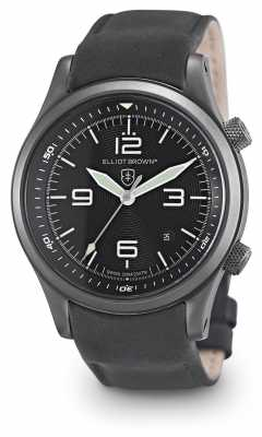 Elliot Brown Mens Canford Black Leather Black Dial 202-004-L10