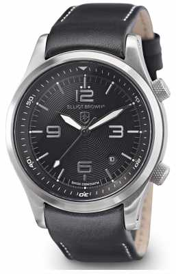 Elliot Brown Mens Canford Black Leather Black Dial 202-006-L02