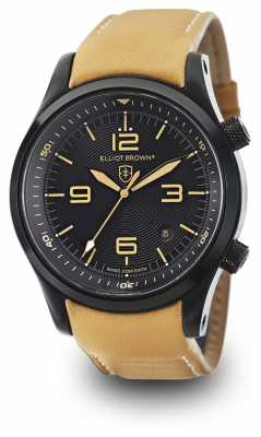 Elliot Brown Mens Canford Tan Leather Black Dial 202-008-L04