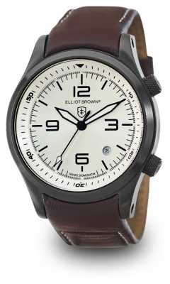 Elliot Brown Mens Canford Oxblood Leather Silver Dial 202-009-L05