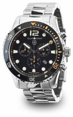 Elliot Brown Mens Bloxworth Stainless Steel Black Dial 929-005-B01
