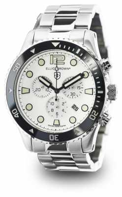 Elliot Brown Mens Bloxworth Stainless Steel White Dial 929-007-B01
