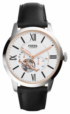 Fossil Mens Townsman Automatic Black Leather ME3104