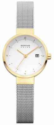 Bering Womens Stainless Steel Mesh White Dial 14426-010