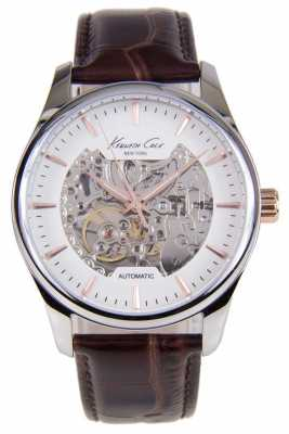 Kenneth Cole Mens Automatic Brown Leather Strap KC10027198