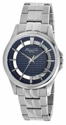 Kenneth Cole Mens Stainless Steel Blue Dial KC10022290