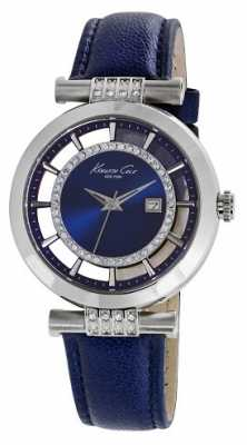 Kenneth Cole Womens Blue Leather Blue Dial KC10021102