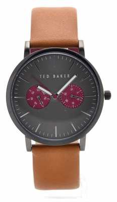 Ted Baker Mens Brown Leather Strap Grey Dial TE10024783