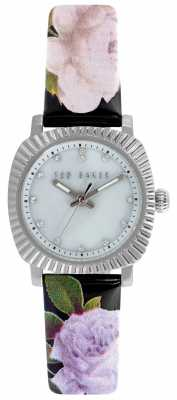 Ted Baker Womens Floral Leather Mother Of Pearl Dial TE10024724