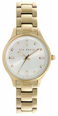 Ted Baker Womens Gold PVD Plated Silver Dial TE10025273