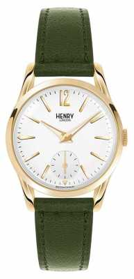 Henry London Womens Chiswick Green Leather White Dial HL30-US-0096