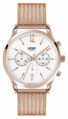 Henry London Unisex Richmond Rose Gold PVD Plated HL39-CM-0034