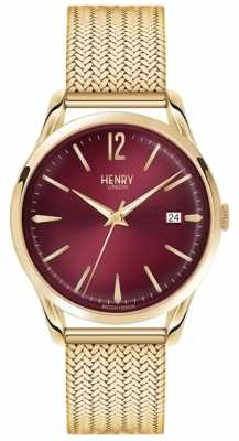 Henry London Unisex Holborn Gold PVD Plated Mesh HL39-M-0062