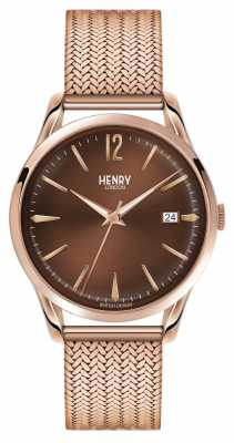 Henry London Unisex Harrow Rose Gold PVD Plated HL39-M-0050