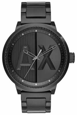 Armani Exchange Mens Black IP Steel Bracelet Sport AX1365