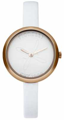 Fiorelli Womens White Leather Strap White Dial FO007WRG