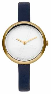 Fiorelli Womens Blue Leather Strap White Dial FO007UG