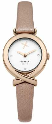 Fiorelli Womens Tan Leather Strap Silver Dial FO009CRG