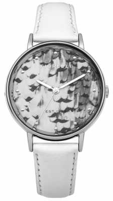 Fiorelli Womens White Leather Strap Grey Dial FO010WS