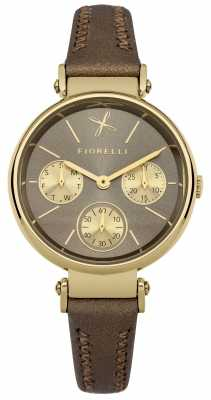 Fiorelli Womens Brown Leather Strap Grey Dial FO013TG